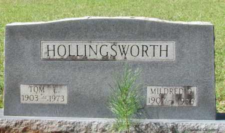 HOLLINGSWORTH, MILDRED D - Bradley County, Arkansas   MILDRED D HOLLINGSWORTH - Arkansas Gravestone Photos