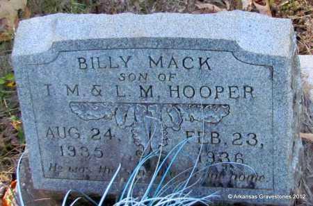 HOOPER, BILLY MACK - Bradley County, Arkansas | BILLY MACK HOOPER - Arkansas Gravestone Photos