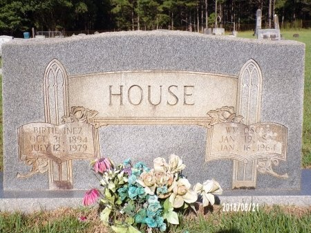 HOUSE, BIRTIE INEZ - Bradley County, Arkansas | BIRTIE INEZ HOUSE - Arkansas Gravestone Photos