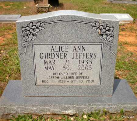 GIRDNER JEFFERS, ALICE ANN - Bradley County, Arkansas | ALICE ANN GIRDNER JEFFERS - Arkansas Gravestone Photos