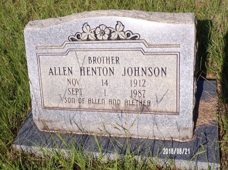 JOHNSON, ALLEN HENTON - Bradley County, Arkansas | ALLEN HENTON JOHNSON - Arkansas Gravestone Photos