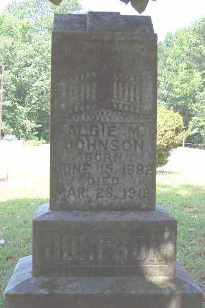 JOHNSON, ALGIE M - Bradley County, Arkansas | ALGIE M JOHNSON - Arkansas Gravestone Photos