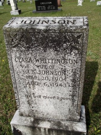 JOHNSON, CLARA - Bradley County, Arkansas   CLARA JOHNSON - Arkansas Gravestone Photos