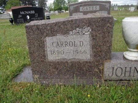 JOHNSON, CARROL D (CLOSE UP) - Bradley County, Arkansas   CARROL D (CLOSE UP) JOHNSON - Arkansas Gravestone Photos