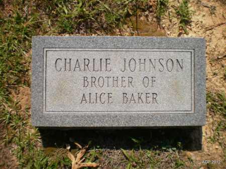 JOHNSON, CHARLIE - Bradley County, Arkansas | CHARLIE JOHNSON - Arkansas Gravestone Photos