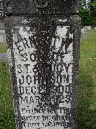 JOHNSON, ERNEST W (CLOSE UP) - Bradley County, Arkansas   ERNEST W (CLOSE UP) JOHNSON - Arkansas Gravestone Photos