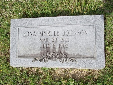 JOHNSON, EDNA MYRTLE - Bradley County, Arkansas   EDNA MYRTLE JOHNSON - Arkansas Gravestone Photos
