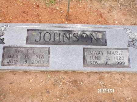 JOHNSON, MARY MARIE - Bradley County, Arkansas | MARY MARIE JOHNSON - Arkansas Gravestone Photos