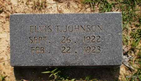 JOHNSON, ELVIS T - Bradley County, Arkansas   ELVIS T JOHNSON - Arkansas Gravestone Photos