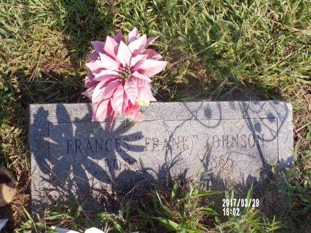 "JOHNSON, FRANCES ""FRANK"" - Bradley County, Arkansas | FRANCES ""FRANK"" JOHNSON - Arkansas Gravestone Photos"