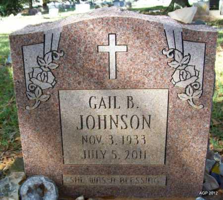 JOHNSON, GAIL B - Bradley County, Arkansas   GAIL B JOHNSON - Arkansas Gravestone Photos