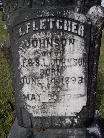 JOHNSON, J FLETCHER (CLOSE UP) - Bradley County, Arkansas | J FLETCHER (CLOSE UP) JOHNSON - Arkansas Gravestone Photos