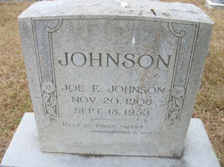 JOHNSON, JOE E - Bradley County, Arkansas | JOE E JOHNSON - Arkansas Gravestone Photos