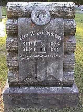 JOHNSON, JAMES W - Bradley County, Arkansas | JAMES W JOHNSON - Arkansas Gravestone Photos