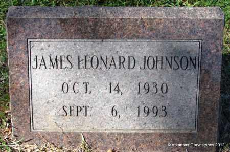 JOHNSON, JAMES LEONARD - Bradley County, Arkansas | JAMES LEONARD JOHNSON - Arkansas Gravestone Photos