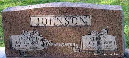JOHNSON, J LEONARD - Bradley County, Arkansas   J LEONARD JOHNSON - Arkansas Gravestone Photos