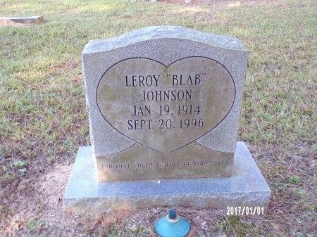 "JOHNSON, LEROY ""BLAB"" - Bradley County, Arkansas | LEROY ""BLAB"" JOHNSON - Arkansas Gravestone Photos"