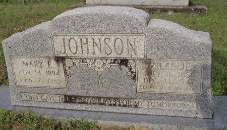 JOHNSON, WILLIAM LESLIE - Bradley County, Arkansas | WILLIAM LESLIE JOHNSON - Arkansas Gravestone Photos