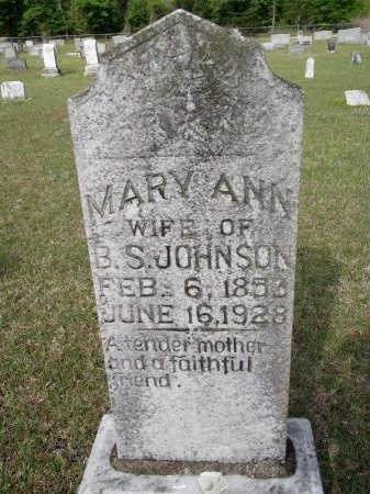 JOHNSON, MARY ANN - Bradley County, Arkansas   MARY ANN JOHNSON - Arkansas Gravestone Photos
