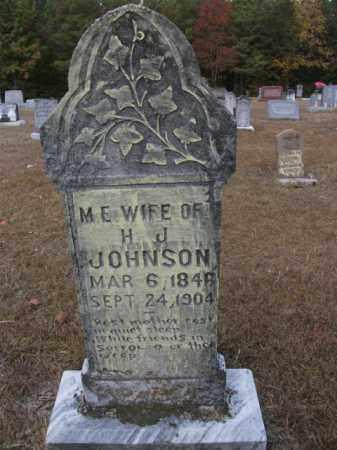 JOHNSON, M E - Bradley County, Arkansas | M E JOHNSON - Arkansas Gravestone Photos
