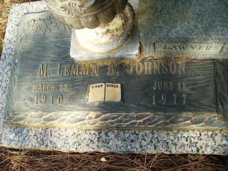 JOHNSON, M LEMMA A - Bradley County, Arkansas   M LEMMA A JOHNSON - Arkansas Gravestone Photos