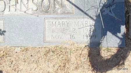 JOHNSON, MARY MARIE (CLOSE UP) - Bradley County, Arkansas | MARY MARIE (CLOSE UP) JOHNSON - Arkansas Gravestone Photos