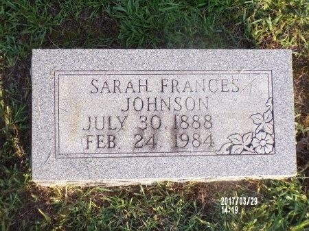 JOHNSON, SARAH FRANCES - Bradley County, Arkansas | SARAH FRANCES JOHNSON - Arkansas Gravestone Photos