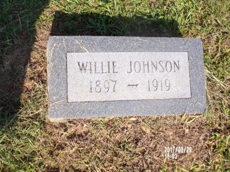 JOHNSON, WILLIE - Bradley County, Arkansas   WILLIE JOHNSON - Arkansas Gravestone Photos