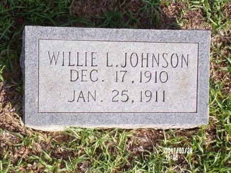 JOHNSON, WILLIE L - Bradley County, Arkansas   WILLIE L JOHNSON - Arkansas Gravestone Photos