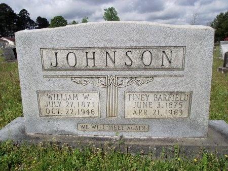 JOHNSON, WILLIAM W - Bradley County, Arkansas | WILLIAM W JOHNSON - Arkansas Gravestone Photos