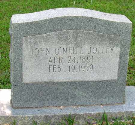 JOLLEY, JOHN O'NEILL - Bradley County, Arkansas   JOHN O'NEILL JOLLEY - Arkansas Gravestone Photos