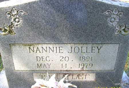 JOLLEY, NANNIE - Bradley County, Arkansas   NANNIE JOLLEY - Arkansas Gravestone Photos