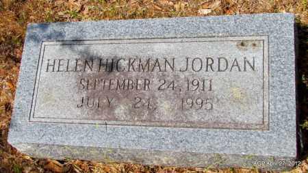 HICKMAN JORDAN, HELEN - Bradley County, Arkansas   HELEN HICKMAN JORDAN - Arkansas Gravestone Photos