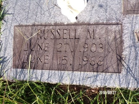 KELLEY, RUSSELL M (CLOSE UP) - Bradley County, Arkansas | RUSSELL M (CLOSE UP) KELLEY - Arkansas Gravestone Photos