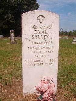 KELLEY (VETERAN KOR), MARVIN ORAL - Bradley County, Arkansas | MARVIN ORAL KELLEY (VETERAN KOR) - Arkansas Gravestone Photos