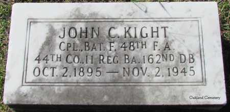 KIGHT (VETERAN), JOHN C - Bradley County, Arkansas | JOHN C KIGHT (VETERAN) - Arkansas Gravestone Photos