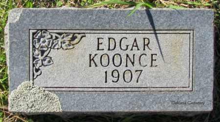 KOONCE, EDGAR - Bradley County, Arkansas | EDGAR KOONCE - Arkansas Gravestone Photos
