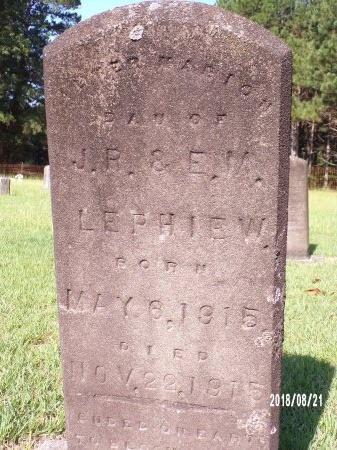 LEPHIEW, ALTER MARION - Bradley County, Arkansas | ALTER MARION LEPHIEW - Arkansas Gravestone Photos