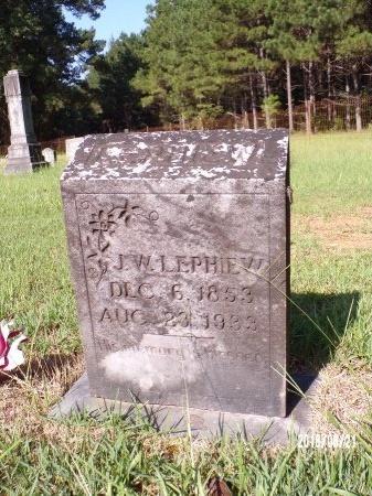 LEPHIEW, J W - Bradley County, Arkansas | J W LEPHIEW - Arkansas Gravestone Photos