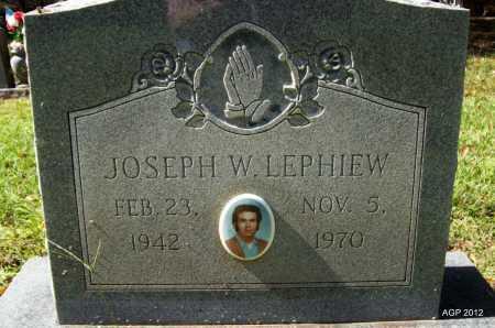 LEPHIEW, JOSEPH W - Bradley County, Arkansas   JOSEPH W LEPHIEW - Arkansas Gravestone Photos