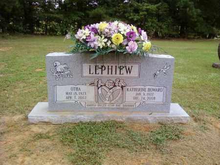 HOWARD LEPHIEW, KATHERINE - Bradley County, Arkansas | KATHERINE HOWARD LEPHIEW - Arkansas Gravestone Photos