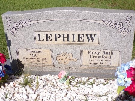 CRAWFORD LEPHIEW, PATSY RUTH - Bradley County, Arkansas | PATSY RUTH CRAWFORD LEPHIEW - Arkansas Gravestone Photos