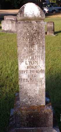 LYON, KATIE - Bradley County, Arkansas   KATIE LYON - Arkansas Gravestone Photos