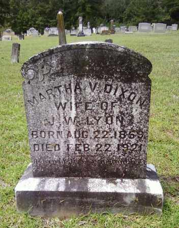 LYON, MARTHA V - Bradley County, Arkansas | MARTHA V LYON - Arkansas Gravestone Photos