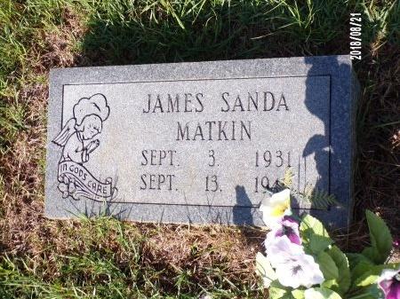 MATKIN, JAMES SANDA - Bradley County, Arkansas | JAMES SANDA MATKIN - Arkansas Gravestone Photos