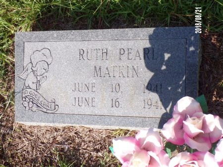 MATKIN, RUTH PEARL - Bradley County, Arkansas | RUTH PEARL MATKIN - Arkansas Gravestone Photos