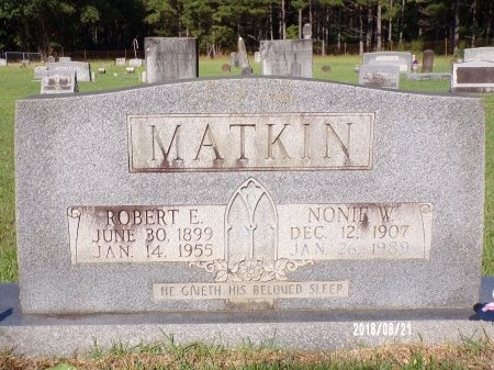 MATKIN, NONIE W - Bradley County, Arkansas   NONIE W MATKIN - Arkansas Gravestone Photos