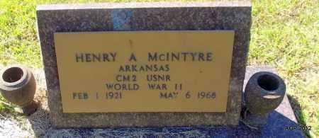 MCINTYRE (VETERAN WWII), HENRY A - Bradley County, Arkansas | HENRY A MCINTYRE (VETERAN WWII) - Arkansas Gravestone Photos