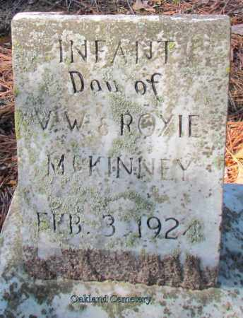 MCKINNEY, INFANT DAUGHTER - Bradley County, Arkansas   INFANT DAUGHTER MCKINNEY - Arkansas Gravestone Photos