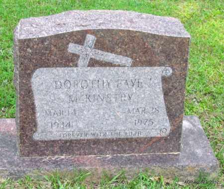 MCKINSTRY, DOROTHY FAYE - Bradley County, Arkansas | DOROTHY FAYE MCKINSTRY - Arkansas Gravestone Photos